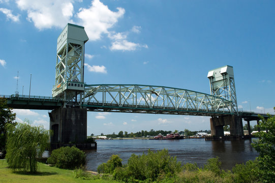 Cape Fear Memorial Bridge Wilmington, NC USA July 20, 2014