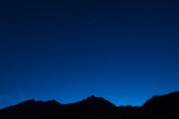 Sternenhimmel über Sedrun / Graubünden