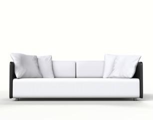 Modern sofa shot on white background