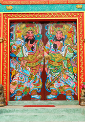 Decorated on Chinese temple door.