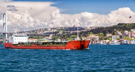 Sailing cargo vessel