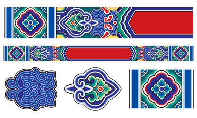 traditional chinese door beam decorative pattern