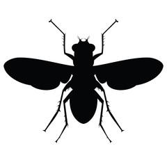 Stencil black flies. Raster