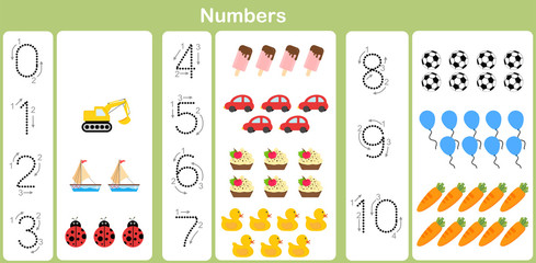 counting and writing numbers to 10 for kids