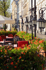 Street cafe in Cracow