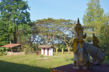 Creatures of Myth and Legend at Sao Roi Ton Temple