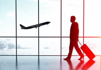 Wall Mural - businessman in airport