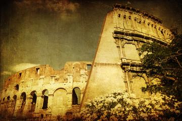 Fotomurales - antik texturiertes Bild vom Kolosseum in Rom