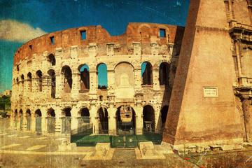 Fotomurales - nostalgisch texturiertes Bild vom Kolosseum in Rom