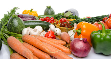 Composition with different vegetables