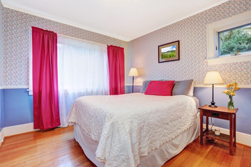 Bright colorful bedroom interior