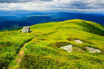 white stones on the hillside