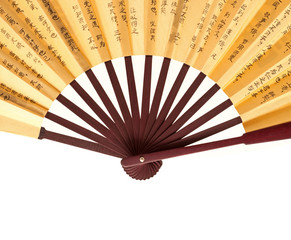 Chinese fan isolated on white