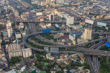 dense urban city