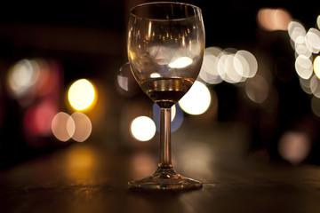 Wine Glass in Bar