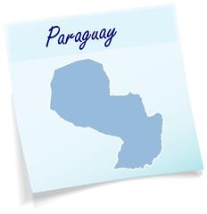 Paraguay als Notizzettel