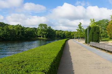 Spree embankment. Berlin. Germany.