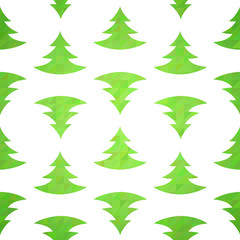 Stylized christmas tree decorative seamless pattern