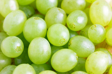 Sweet green grapes