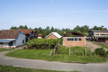 Village scene - abandoned factory