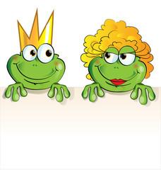 couple frog cartoon