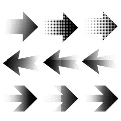 Halftone arrows