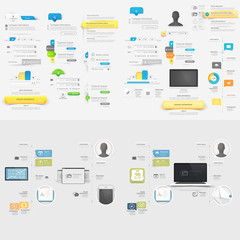 Collection:Set of Infographic and navigation elements with icons