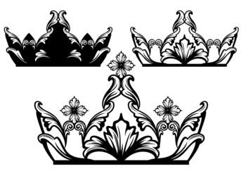 crown black and white design