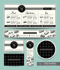 Restaurant Set Menu Sandwich Graphic Design Template