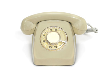 old rotary dial telephone