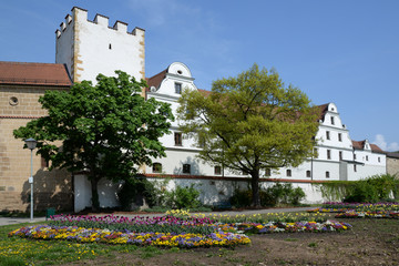 Blumen am Zeughaus in Amberg