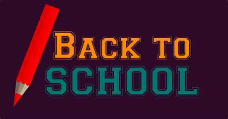 Vector image of a pen and back to school text