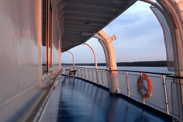 Deck passenger ship