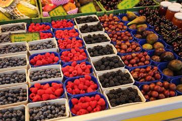fruits d'été sur marché