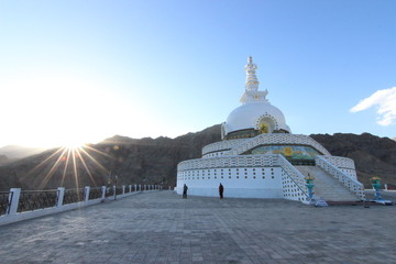 Sunset at Shanti Stupa - Leh