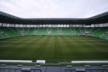 Ferencvaros Budapest stadium with grandstand