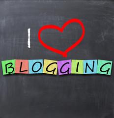 I love blogging concept
