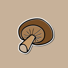 Mushroom sticker drarwing cartoon