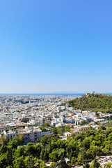view of Athens city from Acropolis,