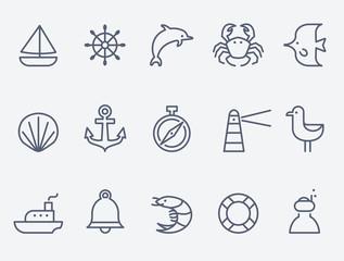 Marine icons