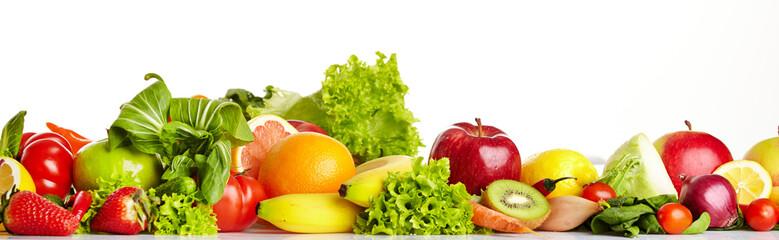 Poster Vruchten Fruit and vegetable borders