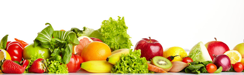 Poster Fresh vegetables Fruit and vegetable borders