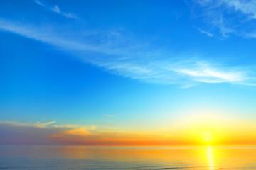 Golden sky background of sunset