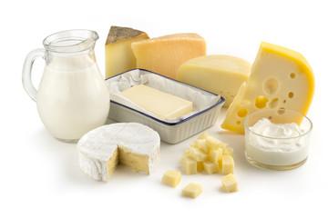 Fototapeta assortment of milk products obraz