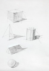 geometric shapes sketch