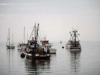 Vintage fishing boat in Monterey harbor, California