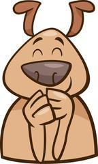 mood cheerful dog cartoon illustration