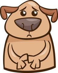mood sad dog cartoon illustration