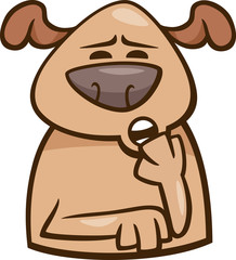 mood sleepy dog cartoon illustration