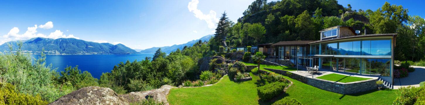 Panoramic view of villa